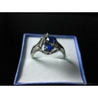 China Amazing Blue Sapphire Tears Brilliant Ring 4244 on sale