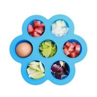 Best Beautiful Flower Shaped Silicone Egg Bites Mould With Plastic Cap Silicone Ice Tray Soft Rubber Kitchen Tool wholesale
