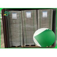Best 470gsm / 1.2mm Good Breakage Resistance Green Color Book Binding Board For Folder wholesale