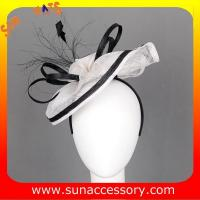 Best 0911 fashion  sinamay  hair fascinators caps for ladies  ,Fancy Sinamay fascinator  from Sun Accessory wholesale
