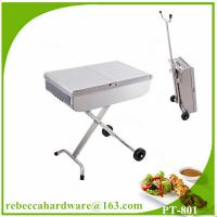 Best High quality european stainless steel trolley barbecue grill / charcoal grill wholesale