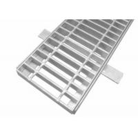China Hot Dip Galvanized Steel Grid Mesh Floor Serrated Bar Grating With Frame on sale