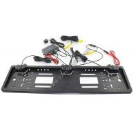 China European License Plate Parking Sensor 3 in 1 Car Rearview Camera with two probes and one camera on sale