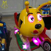 China Hansel amusement park electronic fiberglass coin operated ride on dog toy on sale