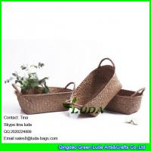 China LUDA custom decorative home colored weaving baskets storage bins on sale