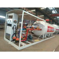 Skid Mounted LPG Gas Tank For Mobile LPG Filling Stations With  Digital Scales