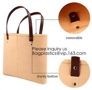 Best Handmade Fashion felt shoulder Case Ladies Bag Women Handbag Felt Tote Bag with Leather Handle, Bagease, Bagplastics wholesale