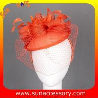 Best 0920 hot sale fashion sinamay fascinators hats and caps with veil ,Fancy Sinamay fascinator  from Sun Accessory wholesale