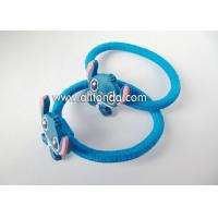 Best Custom lovely blue cute hair bands with rabbits dogs animal shape flexible hair bands for children little baby wholesale