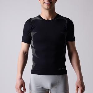 Best T-shirt,   short sleeve,  Men's sports wear,  black and  grey block,   XLSS002, man underwear,  seamless shirts. wholesale