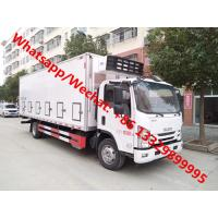 China 2020s new manufactured ISUZU 700P 4*2 190hp day old chick transported truck for sale, refrigerated truck for baby duck on sale