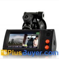 China 3 Inch Touchscreen Car Blackbox DVR with Dual Cameras, GPS Logger and G-Sensor on sale
