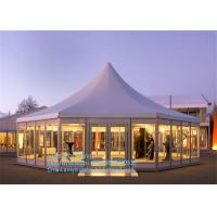 Buy cheap Luxury Glass Mixed Aluminum Tent Party Marquee In Guangzhou For Sale With Colorful Decoration product