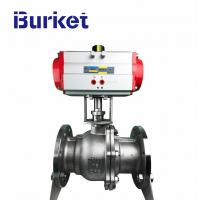 Best PN16 Factory price Floating type stainless steel pneumatic actuator ball valves in-stock wholesale