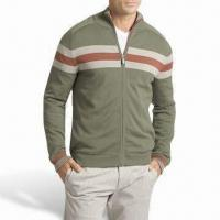 Zipped High Quality Fashion Men's Pullover, Made of 100% Cotton