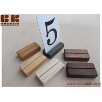Buy cheap 32 Wood place card holders, Restaurant table number holder, Wooden card holder, from wholesalers