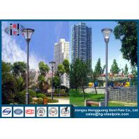 Best Hot Roll Steel Q235 Powder Coated RAL Outdoor Street Lamp Post 6 - 12m wholesale