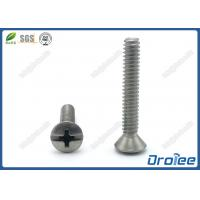 Best Oval Head Machine Screw, Slotted Philips Drive, Stainless Steel 18-8 wholesale