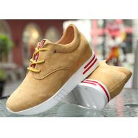 Best Cow Suede Leather Upper Casual Sport Shoes , Platform Heel Girls Casual Shoes wholesale