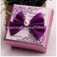 China fabric covered wedding invitation boxes/ wedding favor boxes on sale