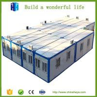China Steel frame modular homes prefab camp house flatpack office container on sale