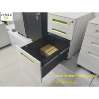 China Movable 3-Drawer Vertical File Cabinet, Locking, Letter and Legal file white color H600XW390XD520mm on sale