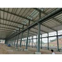 Best Fire Resistance Steel Structure Workshop With Grey Or Blue Color Steel Claddings wholesale