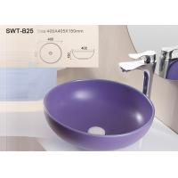 Best Sanitary ware self-cleaning color art wash basin with solid surface wholesale
