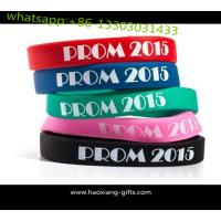 Best customized any color  silicone wristbands/bracelet with your logo wholesale