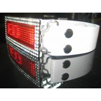 Best 2015 digital programmable  Rhinestone Scrolling LED Belt Buckle for belt wholesale