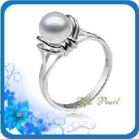 Best 925 Silver Freshwater Pearl Solitaire Ring (RB0026) wholesale