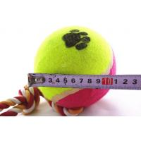 China Environment Friendly Party Pets Dog Toys Ball With Rope For Playing & Gift on sale