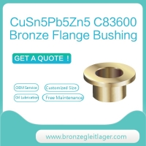 Best CuSn5Pb5Zn5 C83600 Bronze Flange Bushing Graphite wholesale