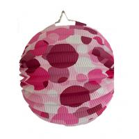 China Indoor Or Outdoor Hanging Accordion Ball Paper Lanterns With Dots on sale