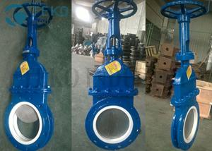 Best MSS-SP-81 Carbon Steel Body Ceramic Lined Knife Gate Valve For Fly Ash wholesale