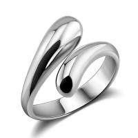 China Fashion Genuine Solid Sterling Silver Teardrop Ring Size Adjustable R026 on sale