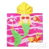 Best Full Printing Animal Design Hooded Poncho Towels For Beach / Pool wholesale