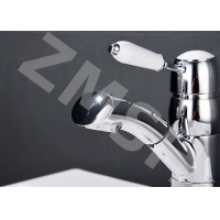 China Electroplate Hot Cold Pull Out Sink Faucet Kitchen Tap on sale