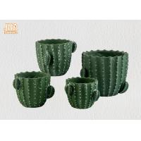 Best Green Color Cactus Flower Pots Homewares Decorative Items Succulents Plant Pots Cement Table Vases wholesale