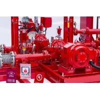 Buy cheap Horizontal Centrifugal Split Case Fire Pump Set 1000 Gpm With Engine , Low Noise from wholesalers