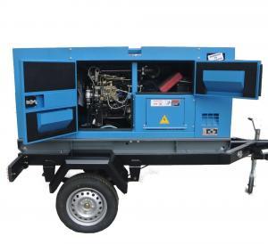 Best Cummins  Diesel Engine Driven Generator , Silent Trailer Mobile Generator Set wholesale