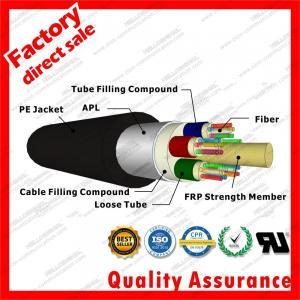 Best outdoor fiber optic cable gyfta multi 9/125 24cores stranded tube FRP Aluminum duct optical cables black PE jacket wholesale