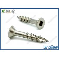 Best 304/316 Stainless Steel Countersunk Head Square Drive Deck Screw w/ 4 Ribs wholesale
