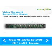 Buy cheap Low Bit Rate SD Digital TV Encoder 85-260 V AC 4 CVBS Input 483mm x 44mm x 400mm product