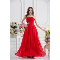 Best Attractive Strapless Chiffon Floor Length Evening Dress Party Gown Beads wholesale