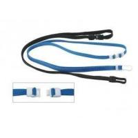 China Promotional Royal Blue, Navy Blue Polyester / PP Plastic Tubular ID Card Holder Lanyard on sale