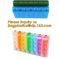 Best Large Weekly Medication Capsule Pill Box,Fashionable portable pocket size pill box with cover easy open pill box organiz wholesale