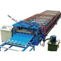 China Glazed Tile Roll Forming Machine for Color Steel Tile , Roof Wall Cladding , Wave Tile on sale