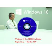 China English Language PC Computer Software Win 10 Pro 64 Bit Genuine Product Key Full Version on sale