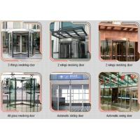Best Glass holder Automatic Glass Sliding Doors With Aluminum Alloy Material W 800mm wholesale